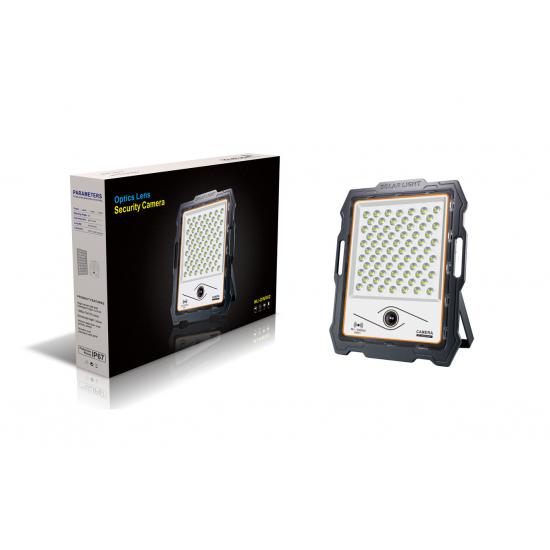 מצלמת אבטחה כולל רמקול מובנה ופאנל סולארי